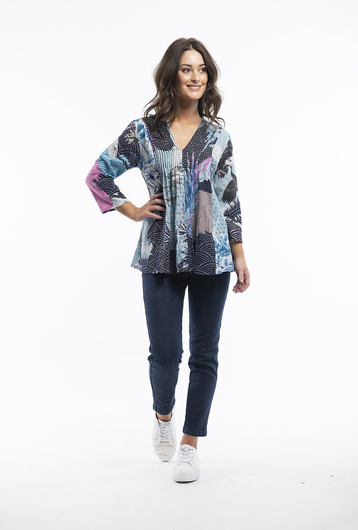 LOURDES 100% Organic Cotton 3/4 Sleeve Top - Style 22751