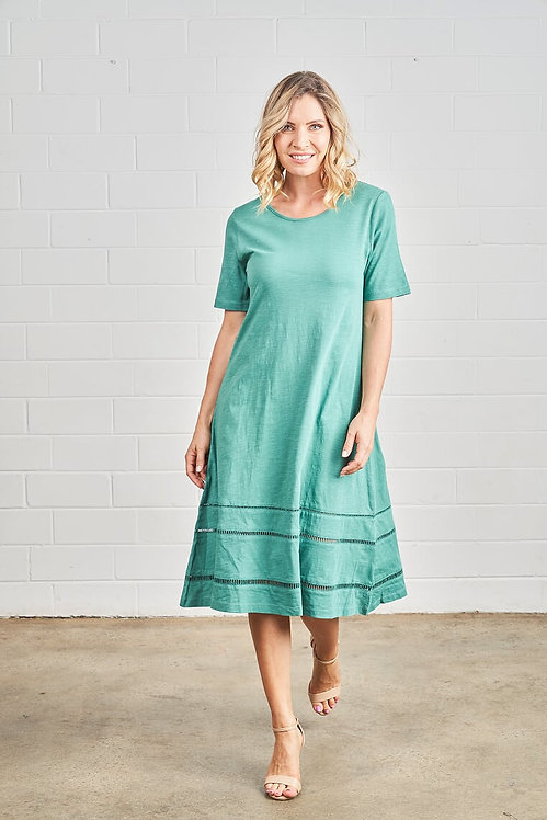 Cotton Ladder Trim Dress - Style PI200
