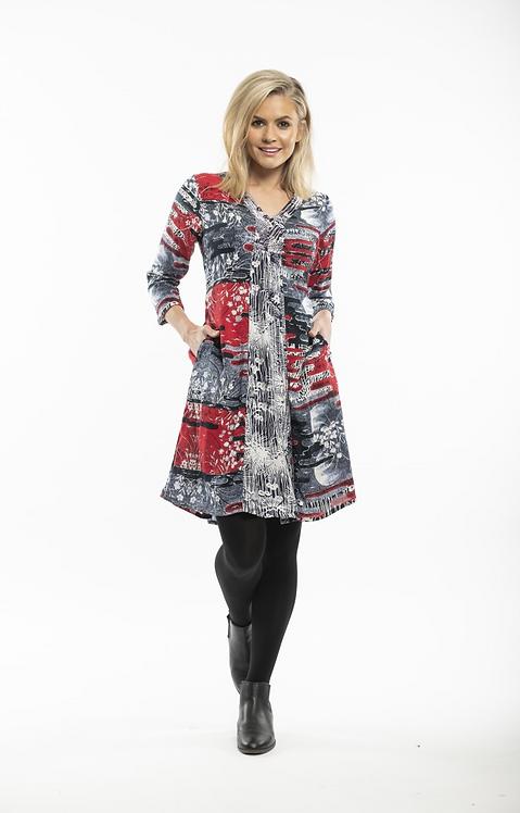 DANTI Boho Long Sleeved Dress - Style 21319
