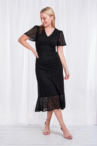 Short Sleeved Long Dress - Style D506415