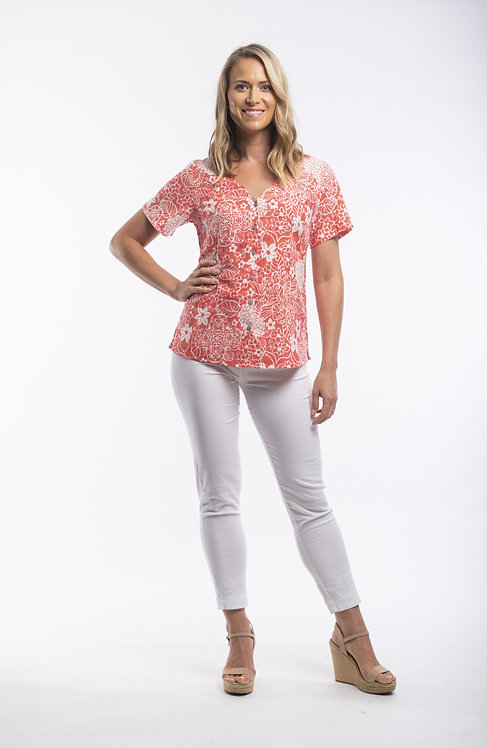 PAMPLONA Short Sleeve Print Shirt - Style 52644