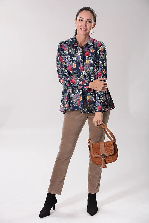 Cotton Printed Long Sleeved Shirt - Style 46377
