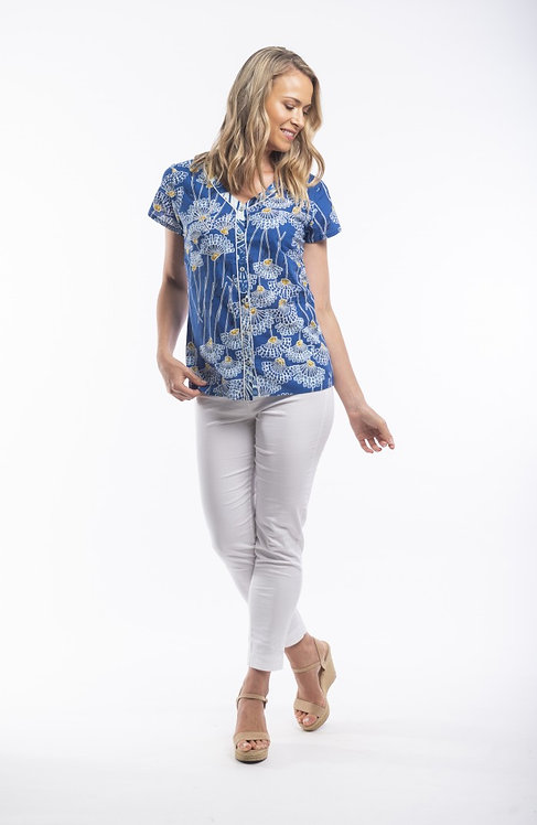 SEVILLE Short Sleeve Print Shirt - Style 82100