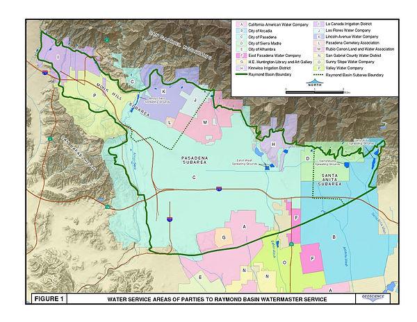 Raymond Basin Boundary Map