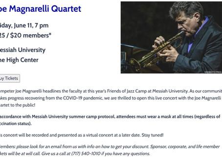 JOE MAGNARELLI QUARTET AT Messiah UniversityThe High Center