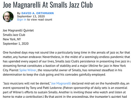 Joe Magnarelli At Smalls Jazz Club