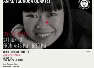 Akiko Tsuruga Quartet @ Smalls Jazz Club Live Broadcast