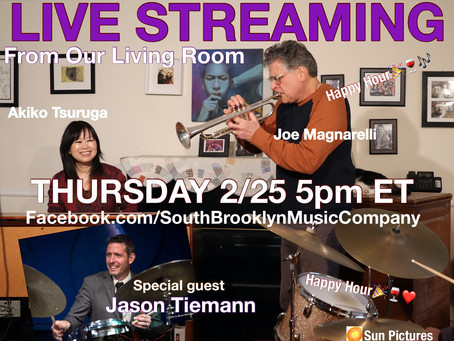 Live Streaming from Our Living Room 2/25 5pm ET