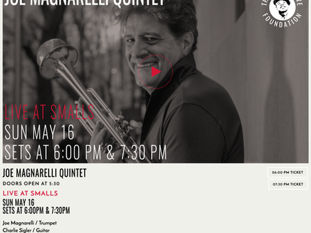 Smalls Jazz Club on Sunday, May 16th