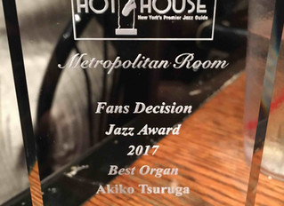 Hot House Jazz Award for Best Organ