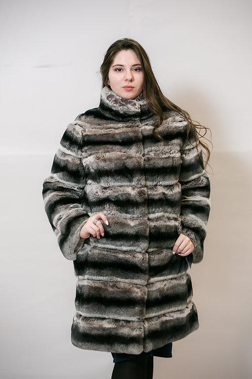 Пальто из меха кролика