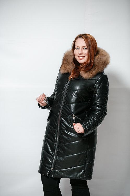 Пальто из экокожи