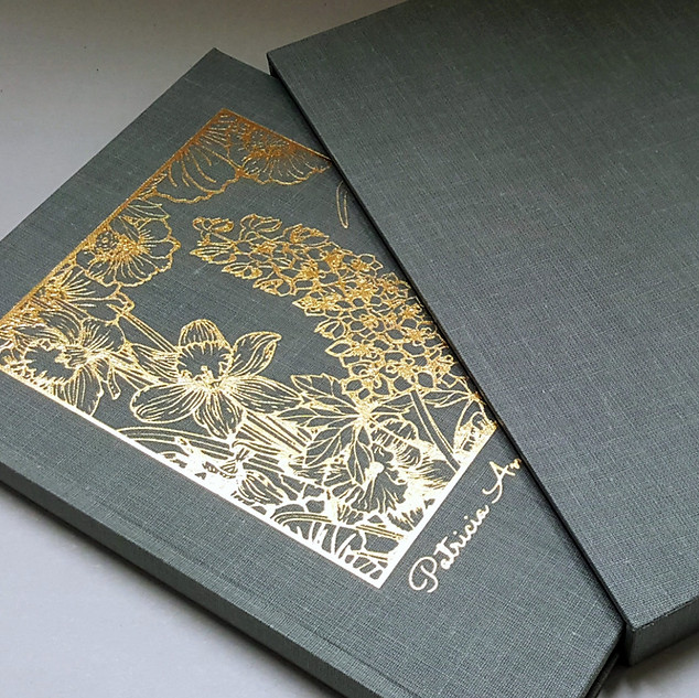 Bespoke Binding - Gift Commission -  Letters Typeset, Printed, Bound And Cover Foil Blocked