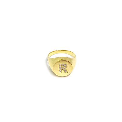 Letter Signet Ring