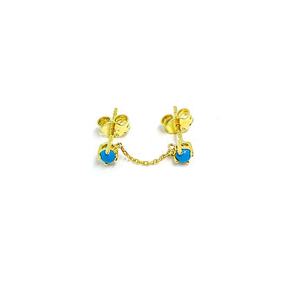 Turquoise Linked Studs