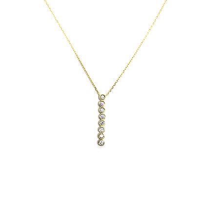 Bezel Vertical Line Necklace