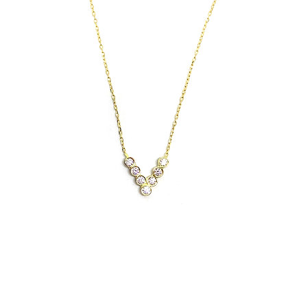 V Bezel Necklace
