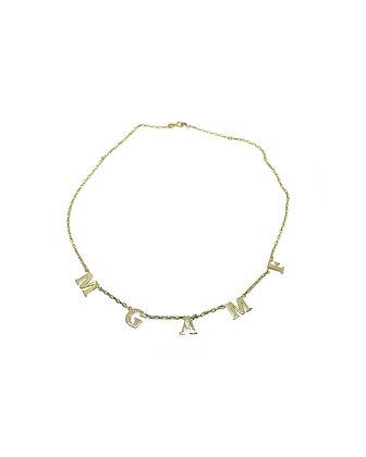 Five Letters Necklace