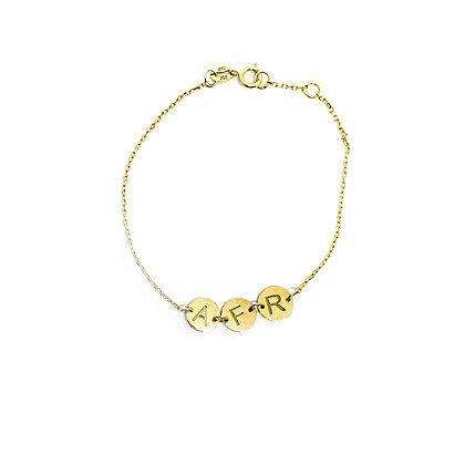 Letter Disc Bracelet