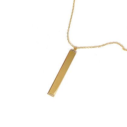 Flat Bar Necklace