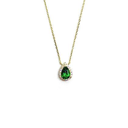 Emerald Teardrop Necklace