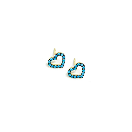 Turquoise Love Earrings