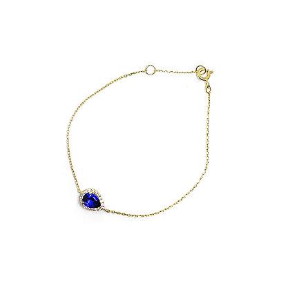 Saphhire Teardrop Bracelet