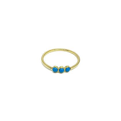 Mini Triple Stone Ring