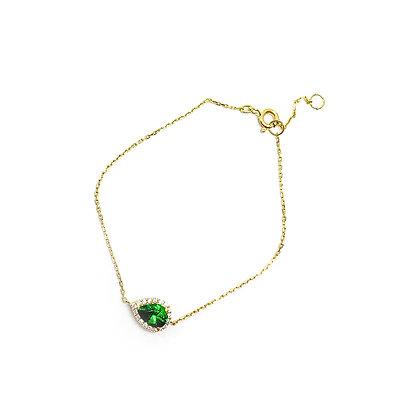 Emerald Teardrop Bracelet