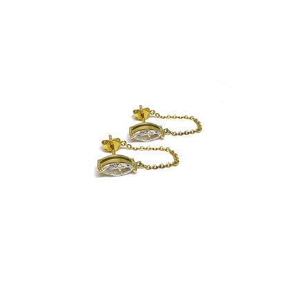 Marquise Chain Studs