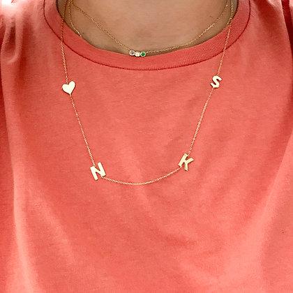 Four Letters Necklace