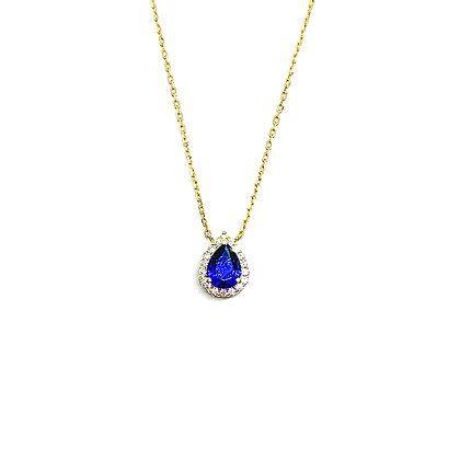 Sapphire Teardrop Necklace