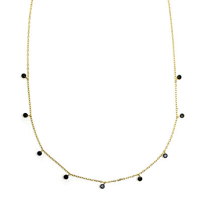 Black Stone Drop Choker
