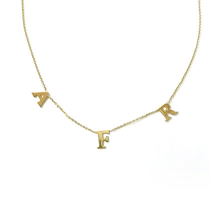 Three Letters Necklace
