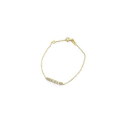 Bezel Line Chain Bracelet
