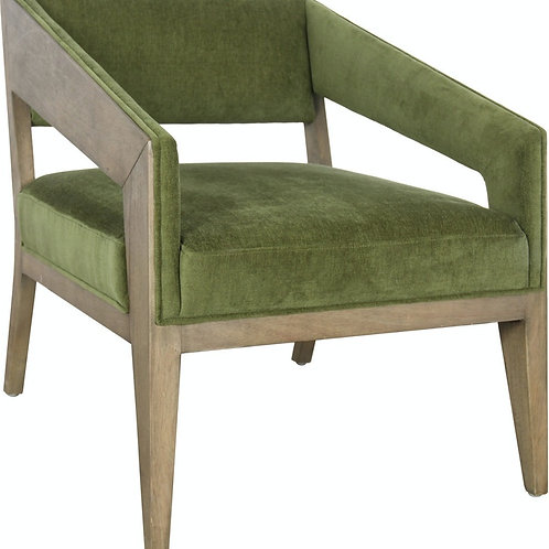 Zoey Green Accent Chair
