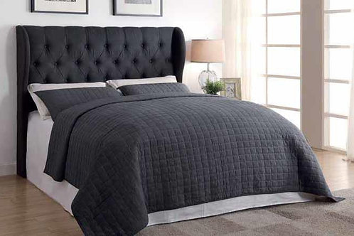 Willow Charcoal Upholstered Bed