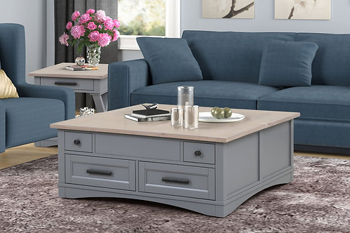Amber Grey Coffee Table with Lift Top