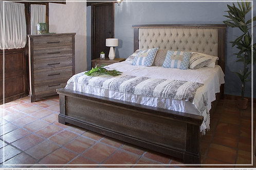 Santana Wood/Upholstered Bed