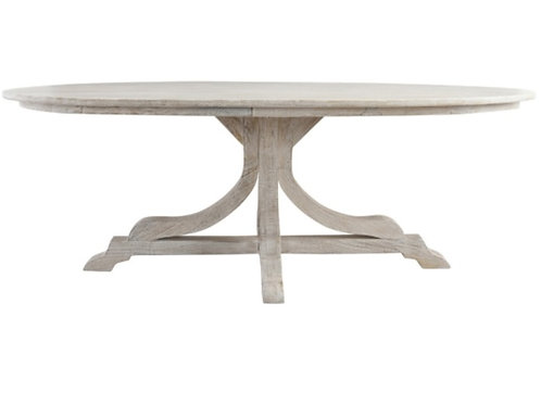 Arial Cream Oval Dining Table