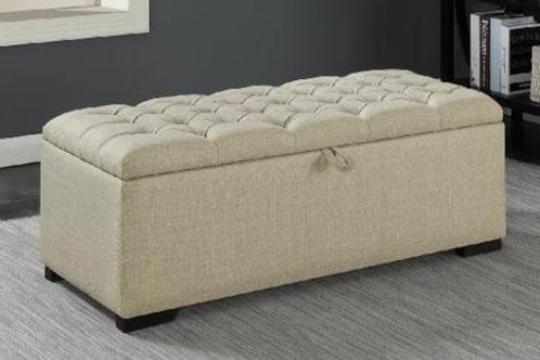 Sophie Cream Upholstered Storage Bench