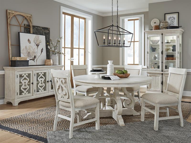 Boston White Round Dining Table 48 60 Furniturelady
