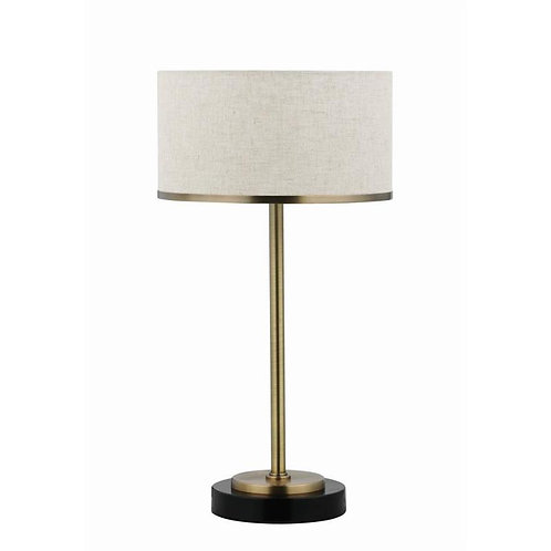 Brass Drum Table Lamp