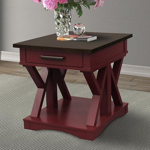 Amber Cranberry End Table