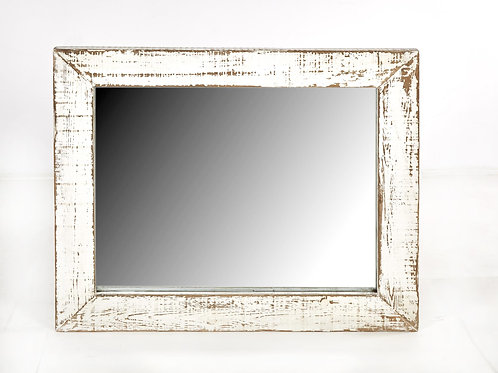 Cozumel Antique White Wall Mirror
