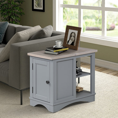 Amber Grey Chair Side Table