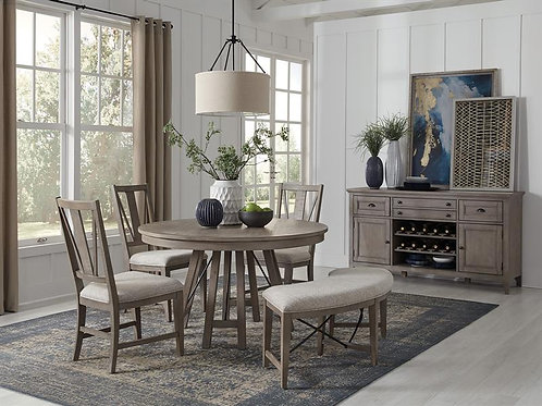 Helena Grey Round Dining Collection
