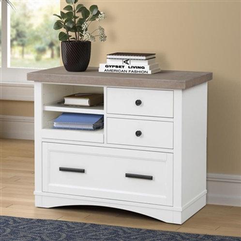 Amber White File Cabinet
