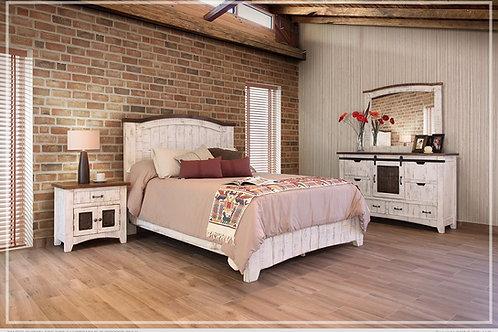 Stella White Wood Bed