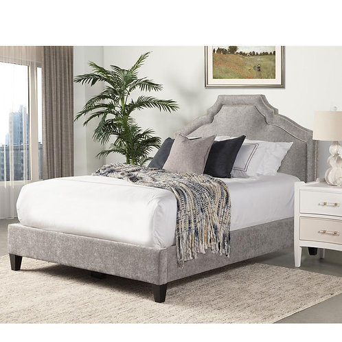Cashlynn Grey Upholstered Bed